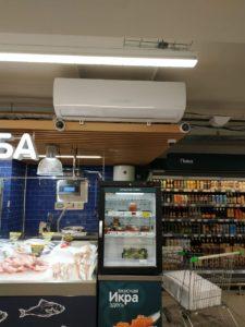 Отопление торгового зала магазина Перекресток тепловым насосом серии ICY II — 24.